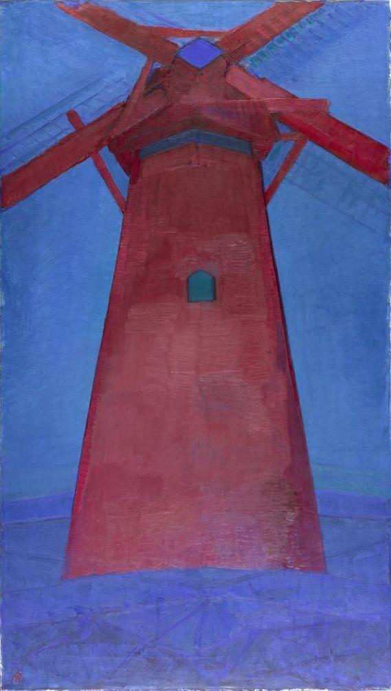 モンドリアン_赤い風車