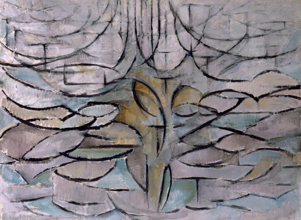 モンドリアン_花盛りの林檎の木